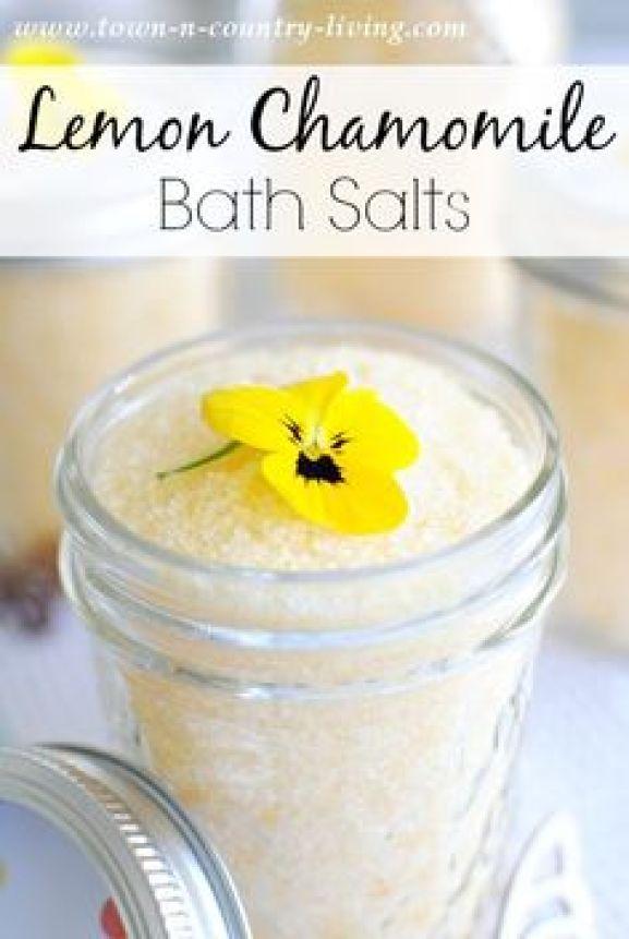 Lemon Chamomile Bath Salts