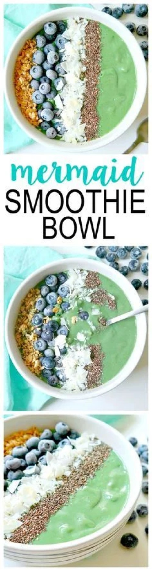 This mermaid smoothie bowl looks SO YUMMY! This is sure to please your tummy and any lucky people you decide to share it with!