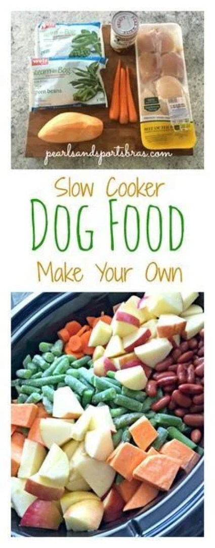 This DIY slow cooker dog food recipe is so AWESOME!