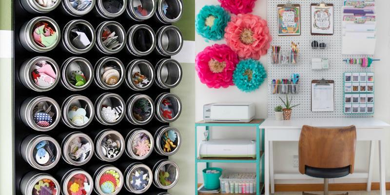 16 Easy Craft Room Organization Ideas