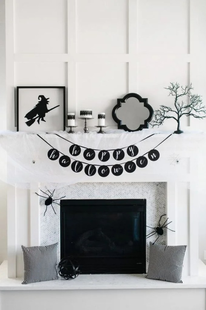These 17 Boo-tiful Halloween Mantels Will Have Your Guests in AWE! They are super easy to do and a great project for all of the family!