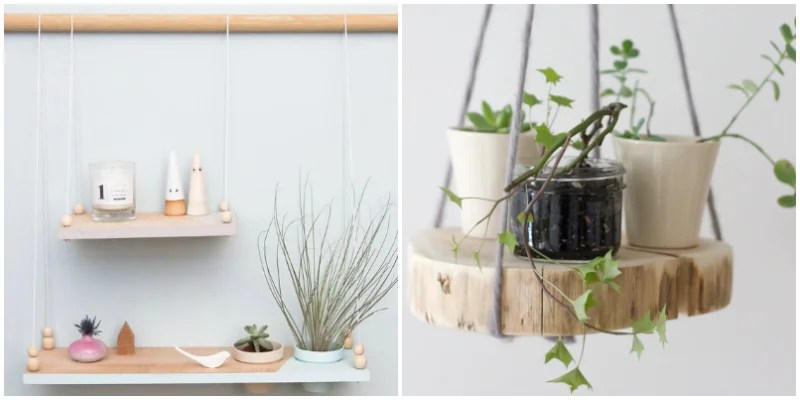 20 DIY Hanging Shelves That'll Turn You Into a Minimalist