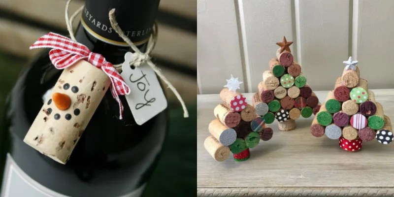 11 Wine Cork Christmas Crafts That'll Make You Say Aww