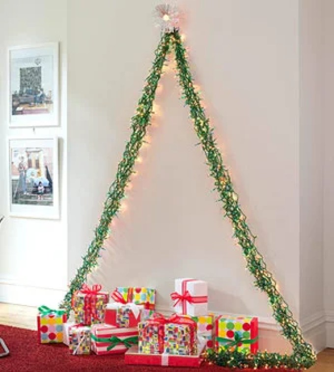 12 creative alternative christmas trees to diy diybunker for Non traditional christmas tree ideas