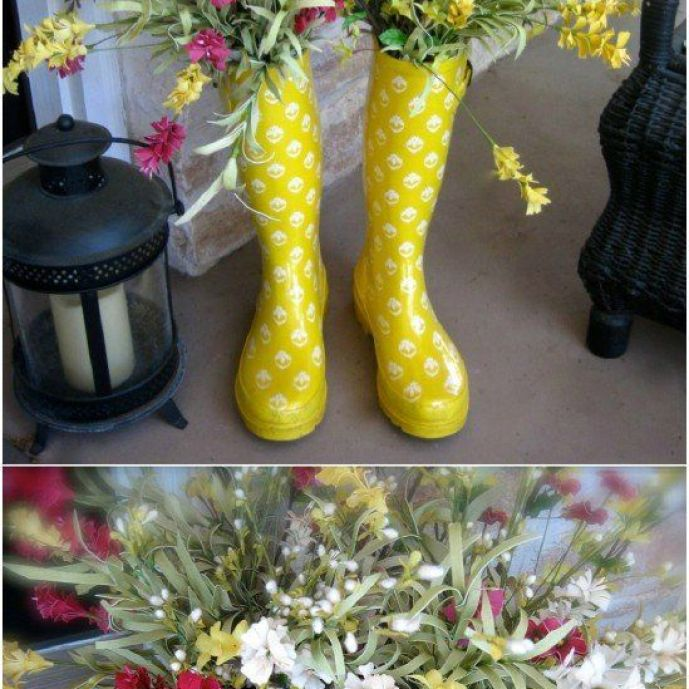 Have a pair of boots that don't quite fit right? Put them to great use with this adorable DIY.