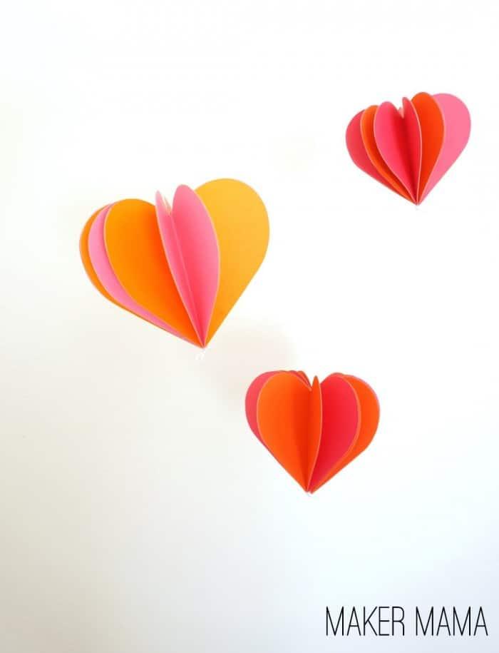 Paper Heart Decorations : paper, heart, decorations, Paper, Heart, Decorations, Holiday, Decor, Candy