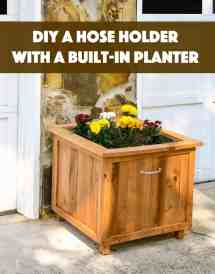 Diy Pallet Wood Hose Holder With Planter - Candy