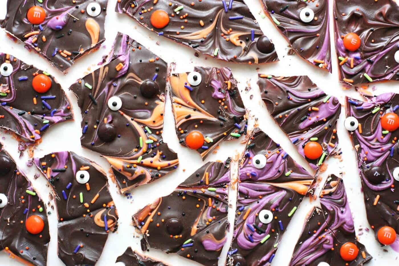 Deliciously Spooky Layered Halloween Bark