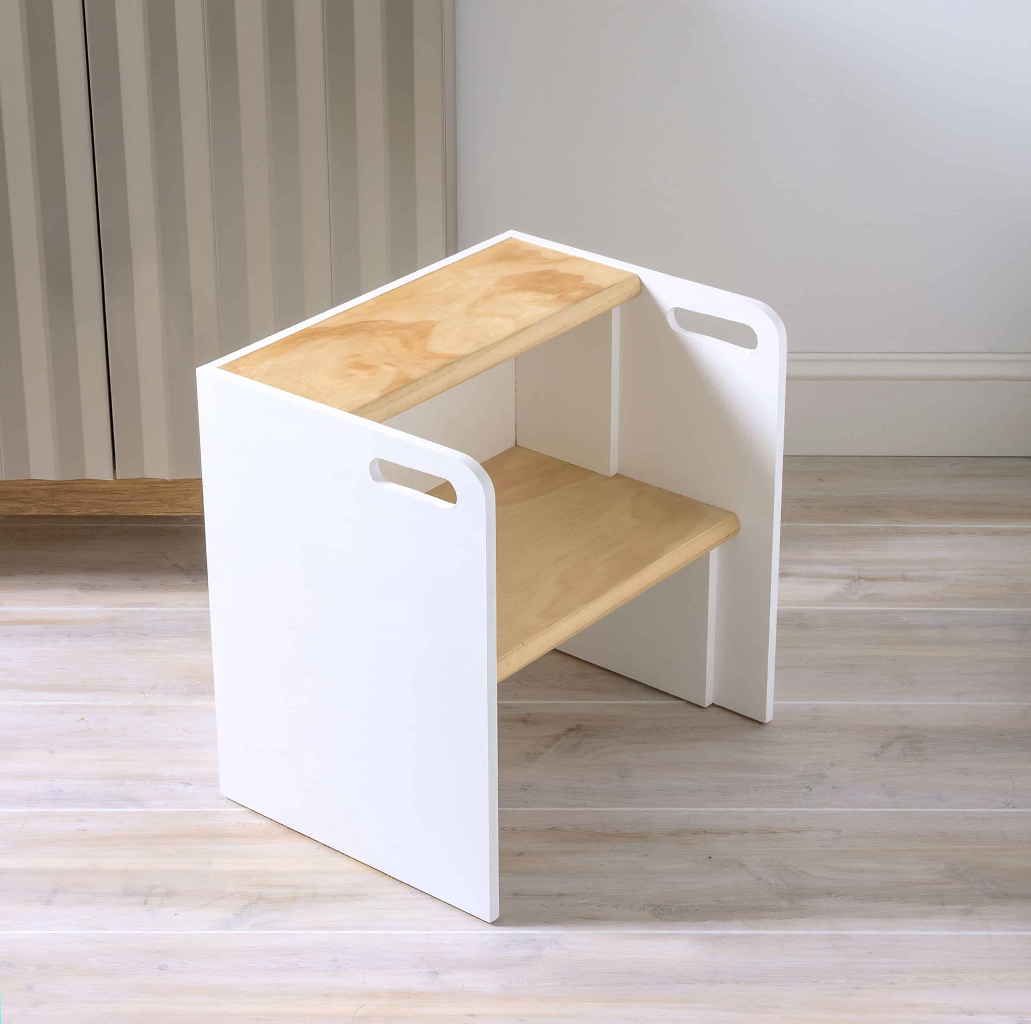 wooden step stool chair ikea dining room covers uk diy diycandy