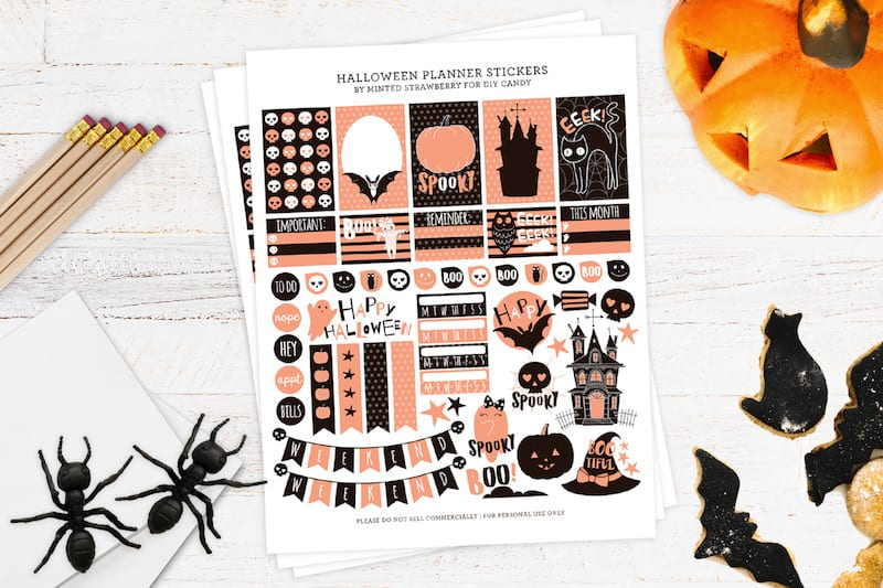 free halloween stickers for