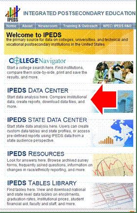 Ipeds Homepage Screenshot