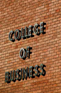College of Business sign