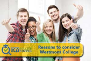 students happy about Westmont College