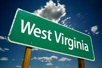 Sign post for West Virginia Colleges