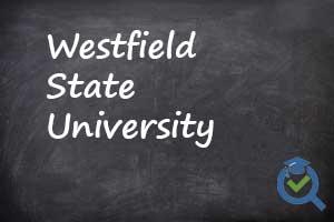 Westfield State University on chalk board
