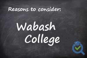 Wabash College written on chalk board