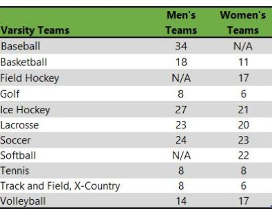 Elmira College athletic teams