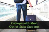 student representing Colleges with the most Out-of-State Students