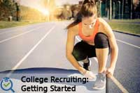 Woman tying shoe representing what you need to know to start the college recruiting process