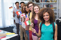 group of international students at colllege