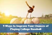Baseball pitcher practicing to improve chances of playing college baseball