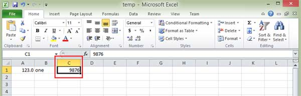 Enter data into Excel