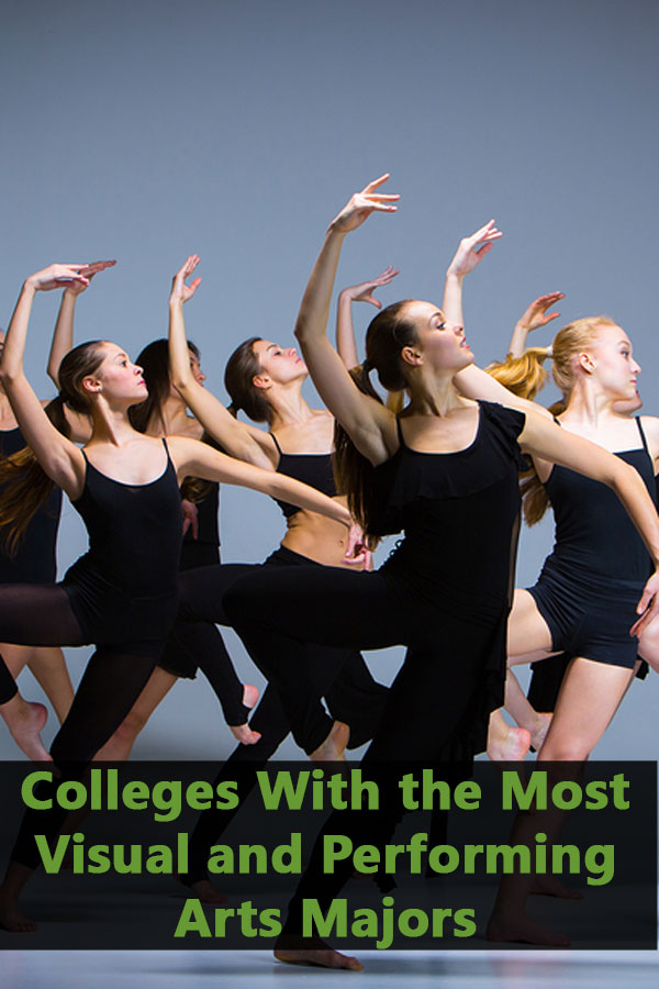 List of Colleges With the Most Visual and Performing Arts Majors that accept at least 50% of students and have at least a 50% graduation rate.