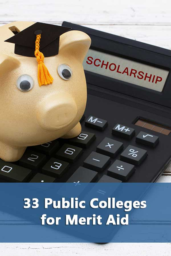 Listing of best public colleges for merit aid that accept at least 50% of students and have a 50% graduation rate.