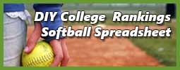 softball player holding ball representing college softball recruiting spreadsheet