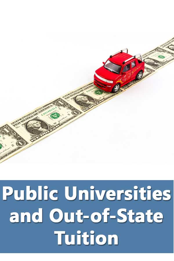 Top 30 50-50 public universities with highest and lowest out-of-state tuition.
