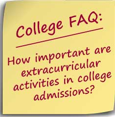 Post-it note asking how important are extracurricular activities in college admissions?