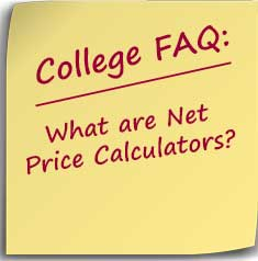 Postit note asking What are Net Price Calculators?