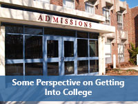 Admissions office representing reality of getting into college