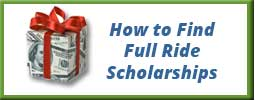 present gift wrapped in money representing how to find college scholarships