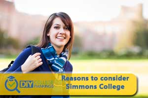 Student happy about Simmons College