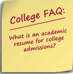 What is an academic resume for college admissions? - Do It ...