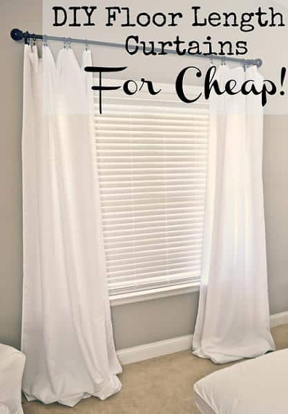 DIY Floor Length Curtains For Cheap DIY Cozy Home