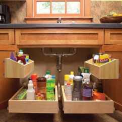 Under Kitchen Sink Organizer Mobile Home Sinks Pull Out Storage