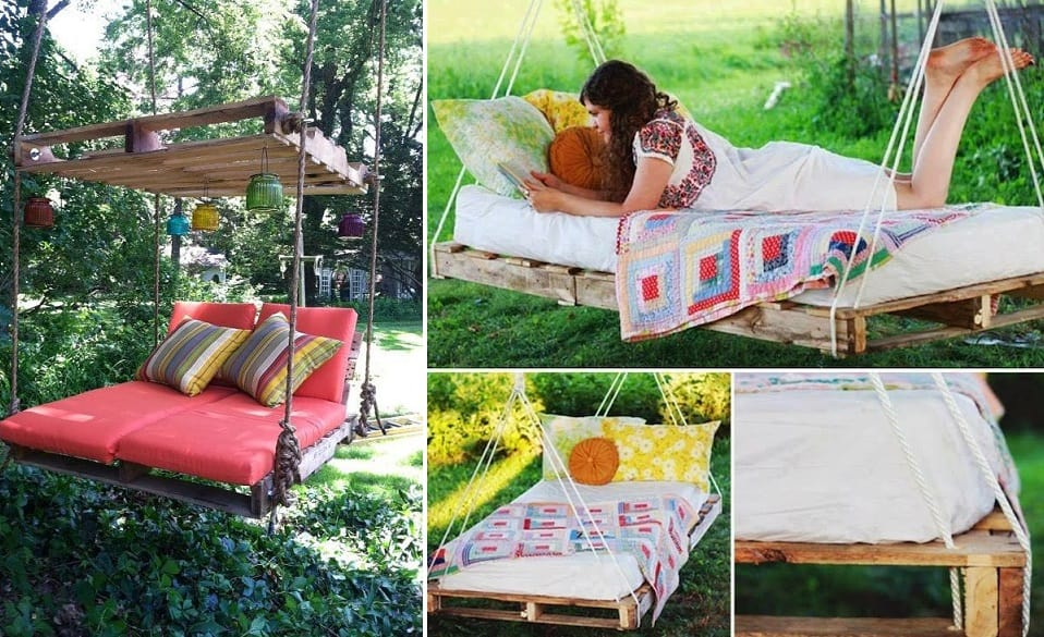 How To Build A Hanging Pallet Bed