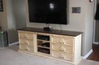 Dresser to Entertainment Center   DIY Craft Addiction