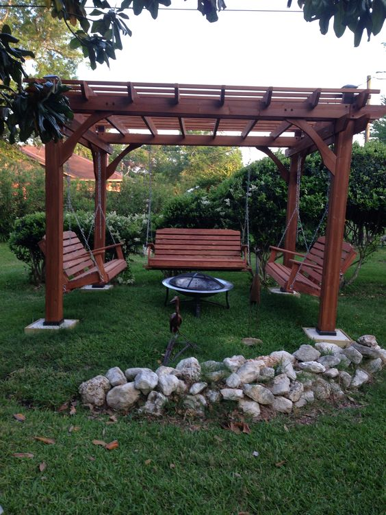 Amazing 50 Diy Pergola And Fire Pit Ideas Crafts And