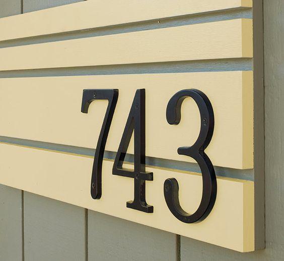 25 Modern & Affordable DIY House Number (Address Plate)