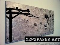 Some Easy and Nice DIY Newspaper Wall Hangings and Dcor