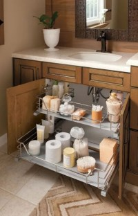 DIY Clever Storage Ideas : 15 Bathroom Organization and