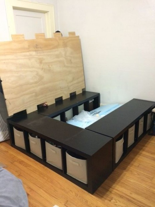 Diy Kids Bed Frame With Storage