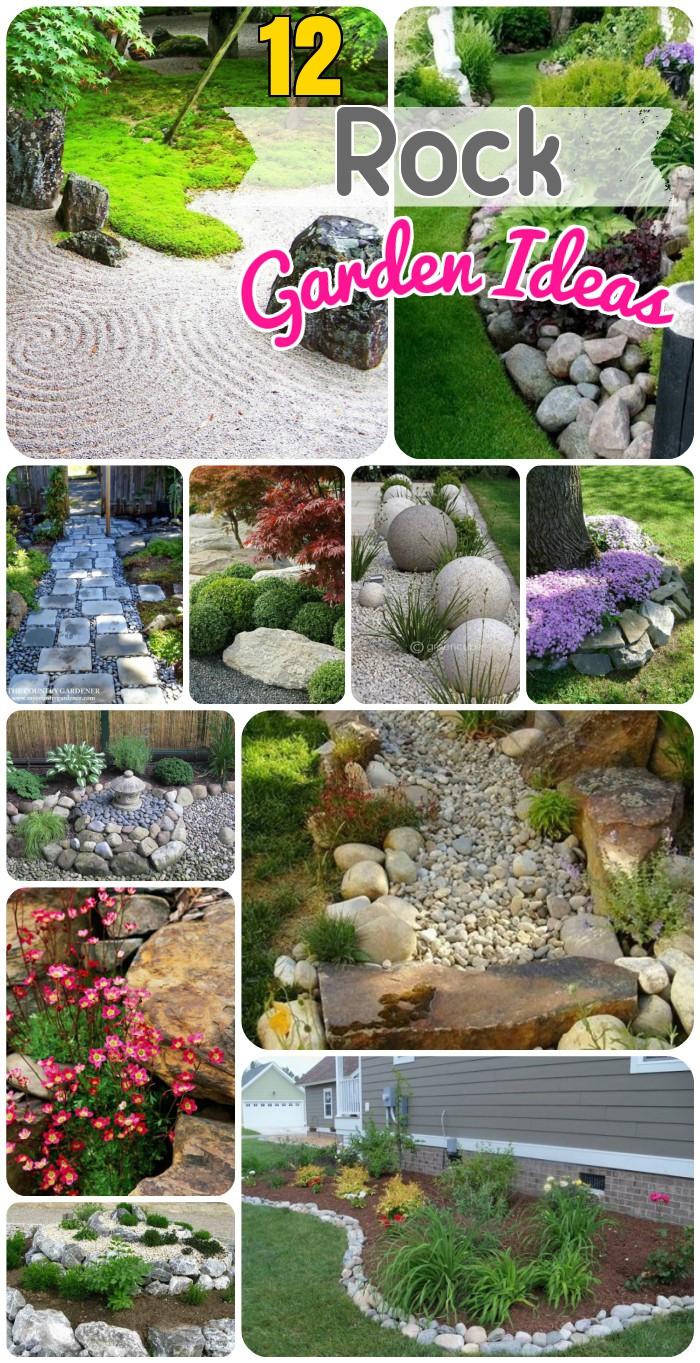 diy garden 12 rock