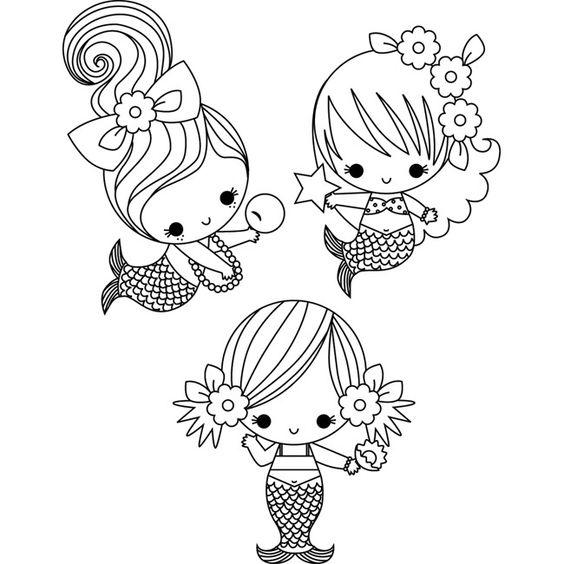 #72 DIY Mermaid Ideas : Mermaid Costumes Coloring pages