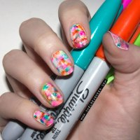 #18 DIY Sharpie Nails and Sharpie Rock / Pebble Painting