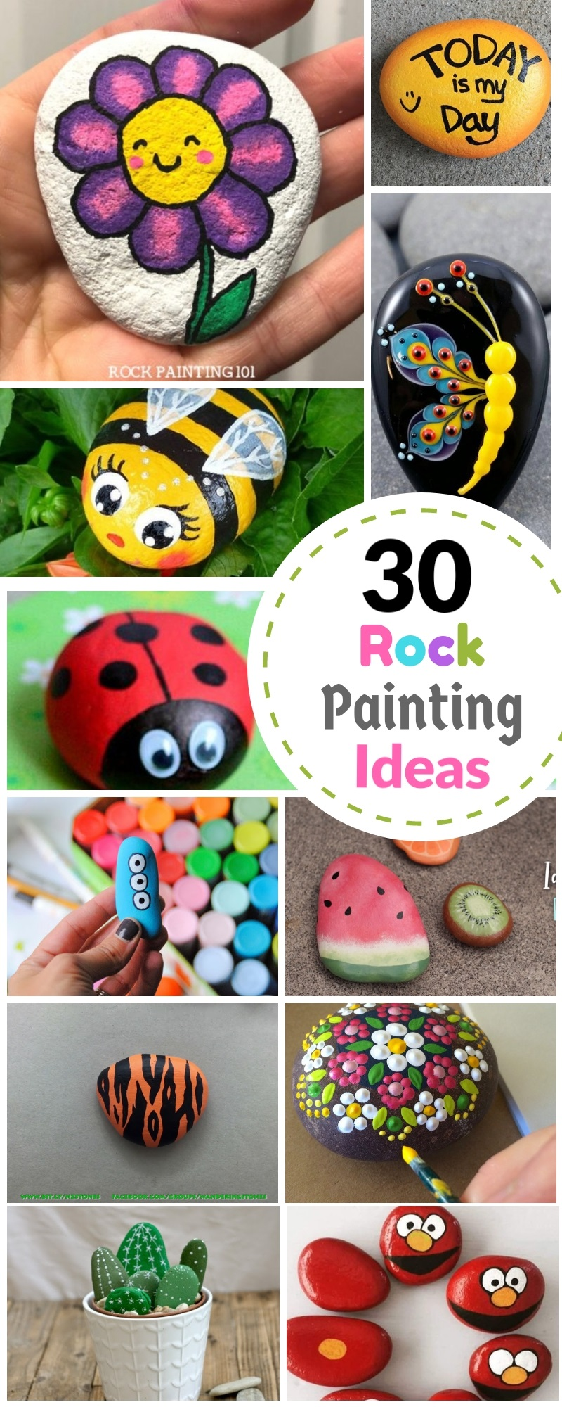 Cute Rock Painting Ideas Easy Arte Inspire