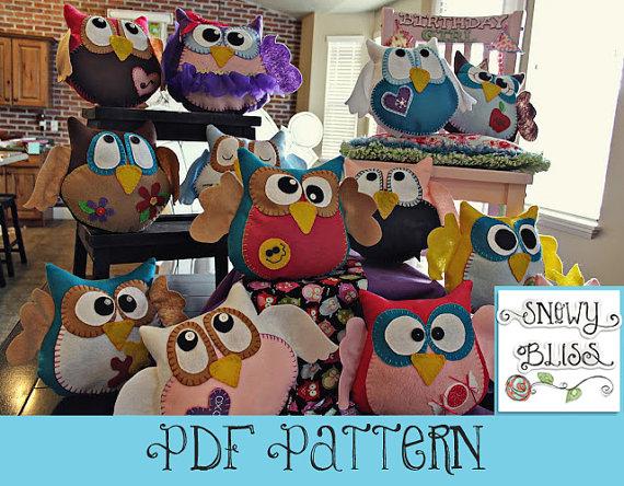 Hooo-Ray Owl Pattern by SnowyBliss